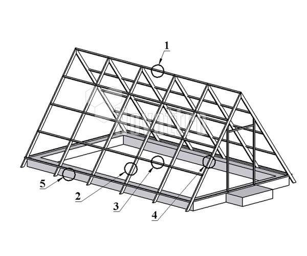 Каркас двускатной конструкции
