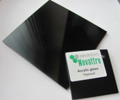 Черный - новый цвет в ассортименте акрилового стекла Novattro