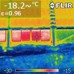 тепловая съемка проекта с панелями родека